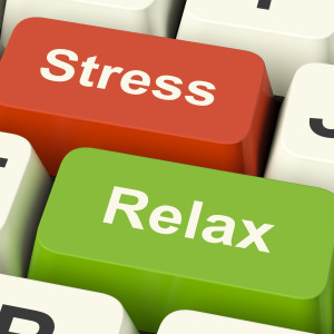 Stress Relax Computer Keys Showing Pressure Of Work Or Relaxation Online