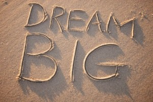 Dream Big in sand